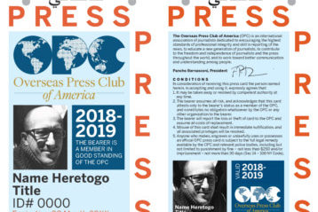Price of OPC press ID badges cut to $40