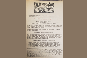 Found in the OPC Archives: an Event Flier from 1945